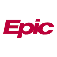 Epic Systems logo, which is the name Epic in red sans-serif.