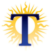 The Marquette Tribune logo, a T in front of a sun